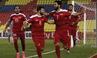 لقاء فلسطين امام المنتخب السوري في ثالث جولة من كأس اسيا