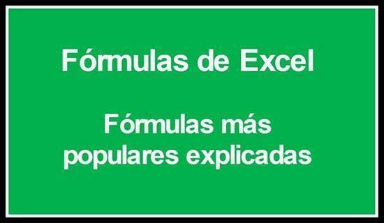 Te enseño las formulas basicas de Excel