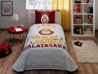 Taç Lisanslı Galatasaray Arma Tek Kişilik Pike Takımı
