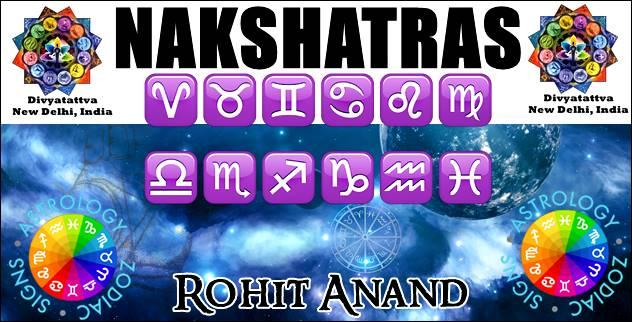 Nakshatras, Vedic Astrology, constellations, Janma Nakshatra or Birth Star