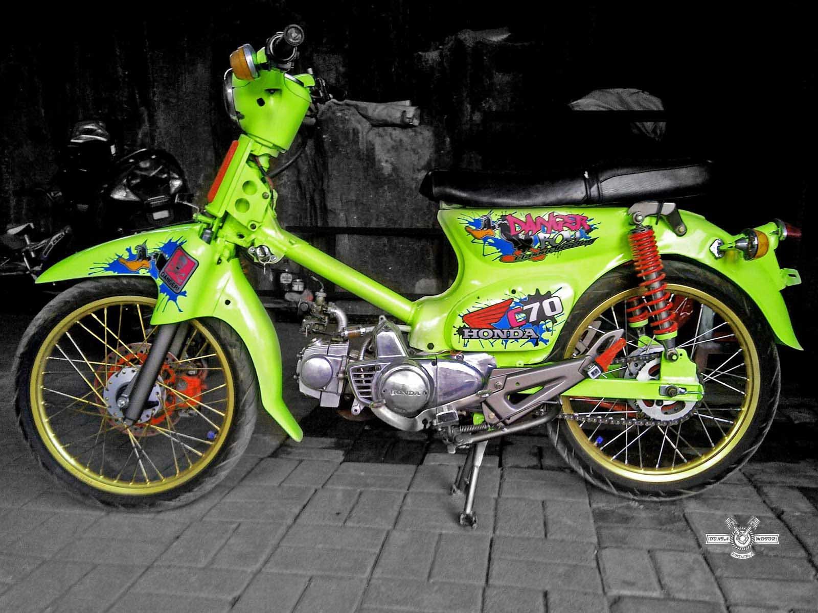 Koleksi Foto Honda C70 Racing Modifikasi Keren Duniamotornet
