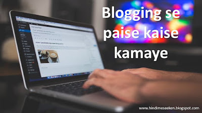 Blogging Se Paise Kaise Kamaye - 7 Best Tips - Hindi Me Seeken