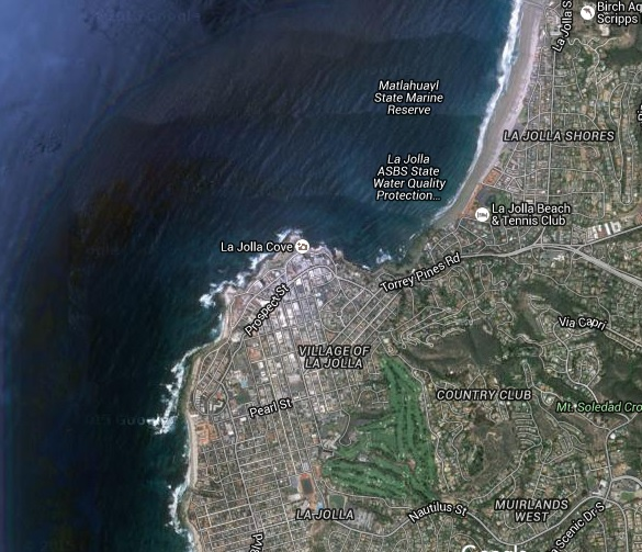 Point La Jolla satellite view