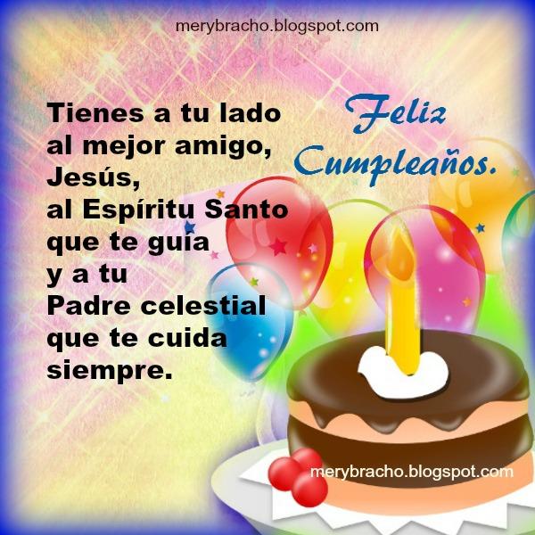tarjetas Mensajes cristianos con frases cortas para cumpleaños, imagen colorida con pensamientos versiculos biblicos para amigos frases religiosas por mery bracho