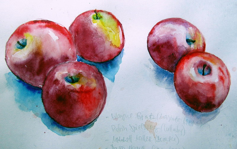 Apple-watercolor