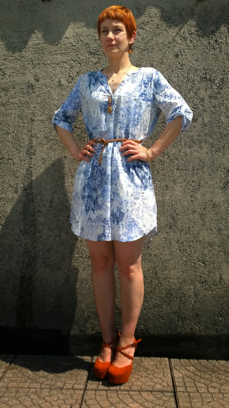 Mango Shirt dress, hands on hips