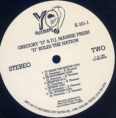 Gregory D & Mannie Fresh* DJ Mannie Fresh - Clap To This