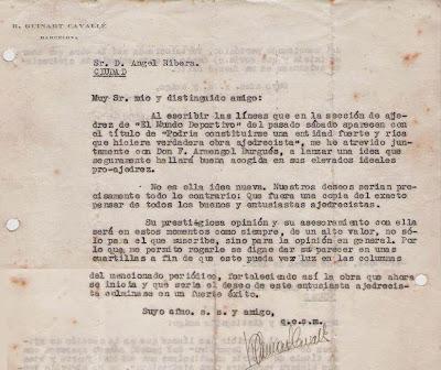 Carta de Ricard Guinart Cavallé