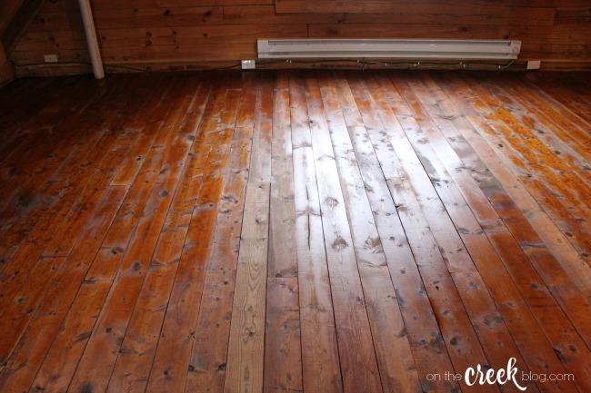 cabin loft bedroom after