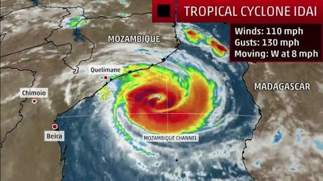 Tropical Cyclone Idai to Strike Mozambique
