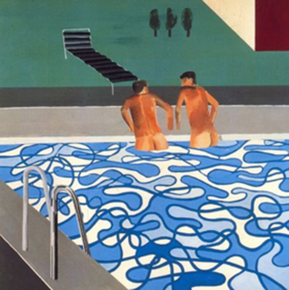 "David Hockney: ""Dos chicos en la piscina"", 1965"