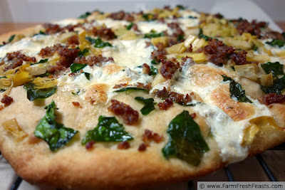 Sausage Spinach Mozzarella Ball Pizza | Farm Fresh Feasts