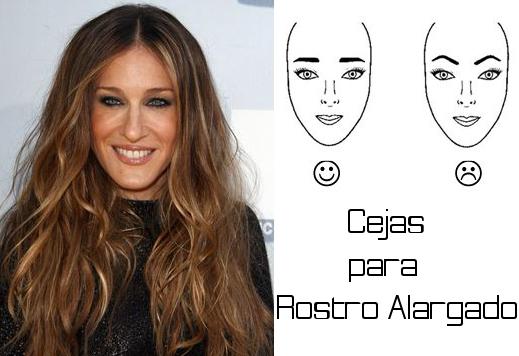 como dibujar las cejas para un rostro alargado