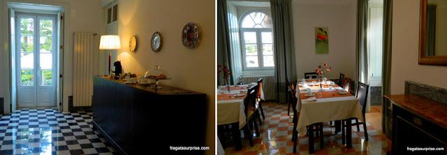 Salão de refeições do Hotel Solar Cerca do Mosteiro Alcobaça, Portugal