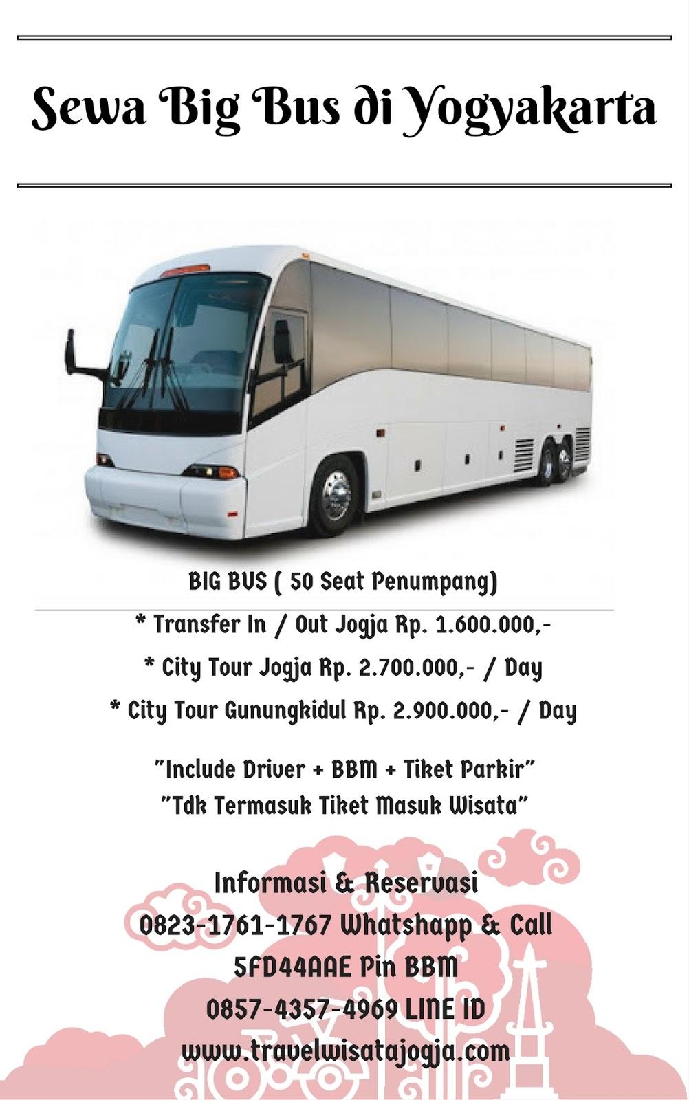 Sewa BIG BUS 50 Seat di Yogyakarta