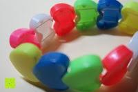 schräg innen: German Trendseller® - 6 x Herz Armbänder für Kinder ┃ Herzen┃ Kindergeburtstag ┃ Mitgebsel ┃ Kinderschmuck ┃ 6 Stück