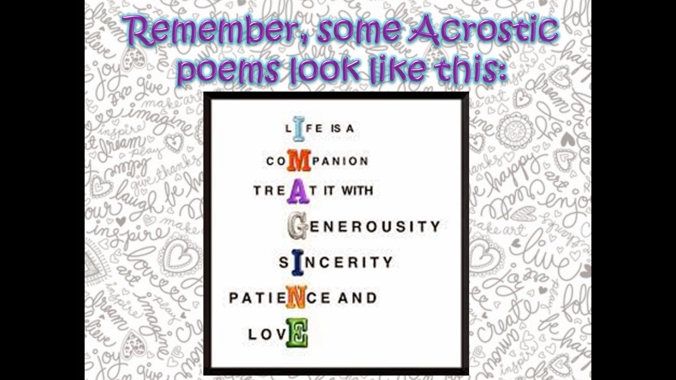 Acrostic Poem Adult
