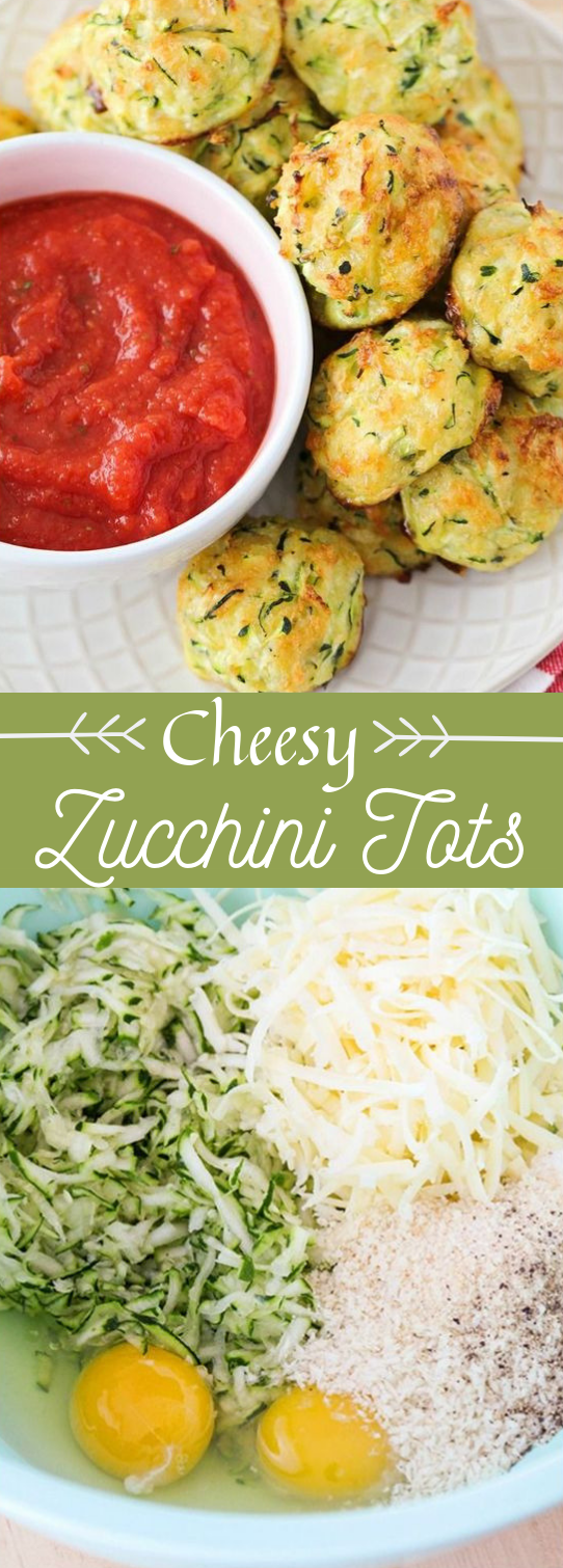 CHEESY ZUCCHINI TOTS #dinner #lunch