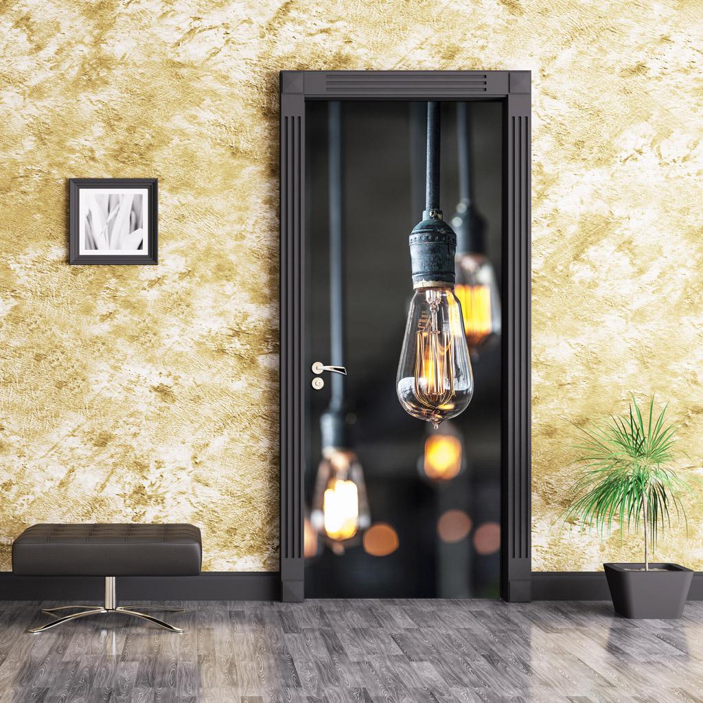 Papel pintado fotomurales adhesivos para puertas - Puertas de vinilo ...