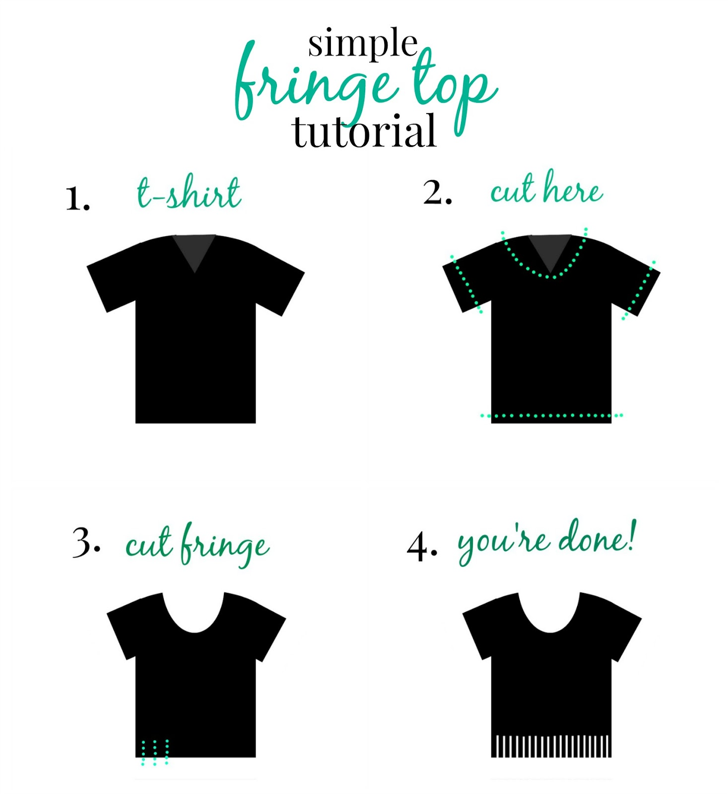 diy fringe top no sew tutorial spring trends 2015