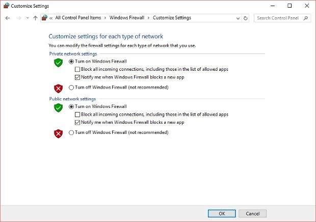 This image explanation how to Enable Firewall in OS Windows