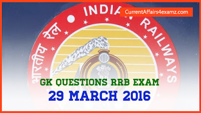 Railway Exam Questions March 2016