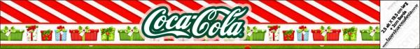 Etiquetas para personalizar botellas de Navidad a Rayas.