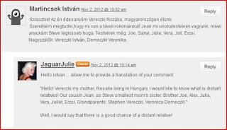 Vereczki Reader Comments