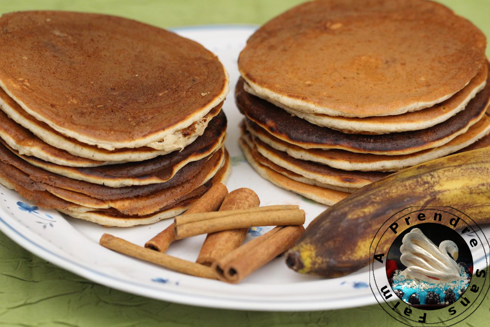 Pancakes banane cannelle