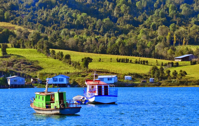 A typical view of Chiloé Island, Chile