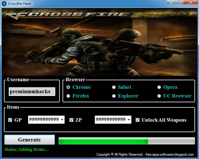 Crossfire Hack No Survey! Free!(Unlimited GP an ZP) ~ Premium Hacks