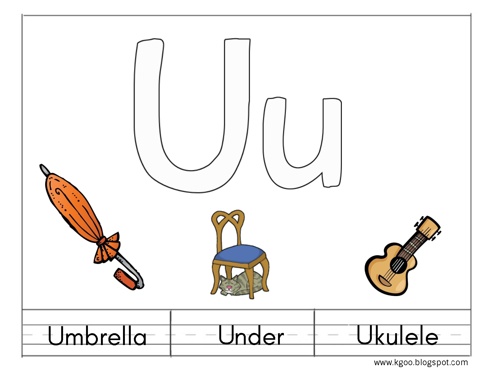U Ukulele Worksheet