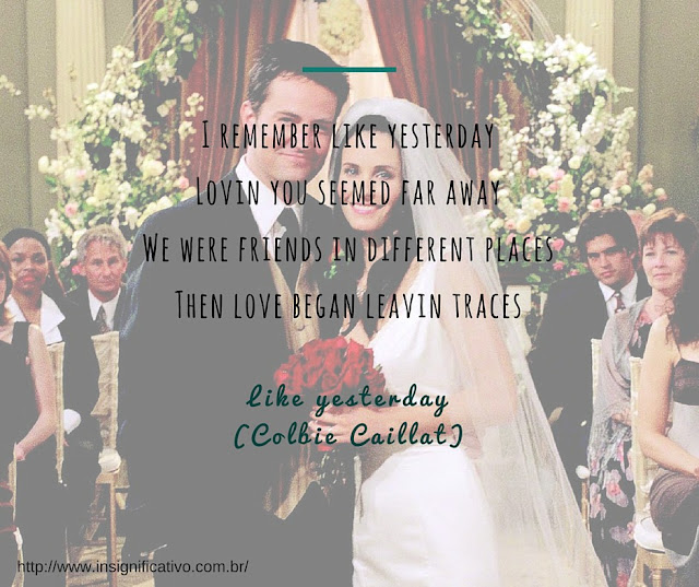 Friends 7x24 -  The One With Chandler And Monica's Wedding - Monica Geller (Courteney Cox) and Chandler Bing (Matthew Perry) - Like Yesterday (Colbie Caillat)