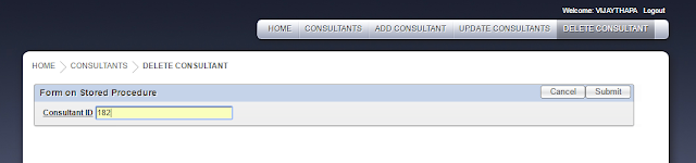 Delete Consultant Tab was clicked