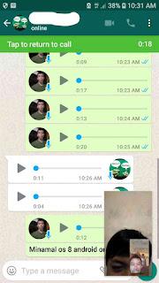 Cara video call sambil chatingan di whatsapp, Michat dan aplikasi chatingan lainnya