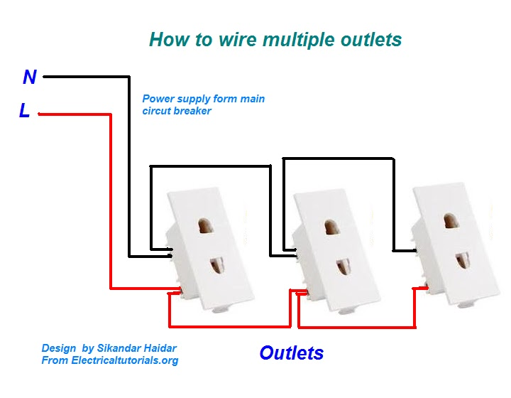 How to wire multiple outlets urduhindi video tutorial wire multiple outlets diagram ccuart