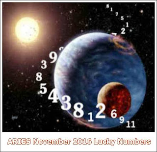 ARIES November 2016 Lucky Numbers Numerology
