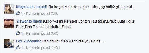 Tanggapan Netizen, Tentang Kapolresta Yang Bersihkan Masjid Sendirian