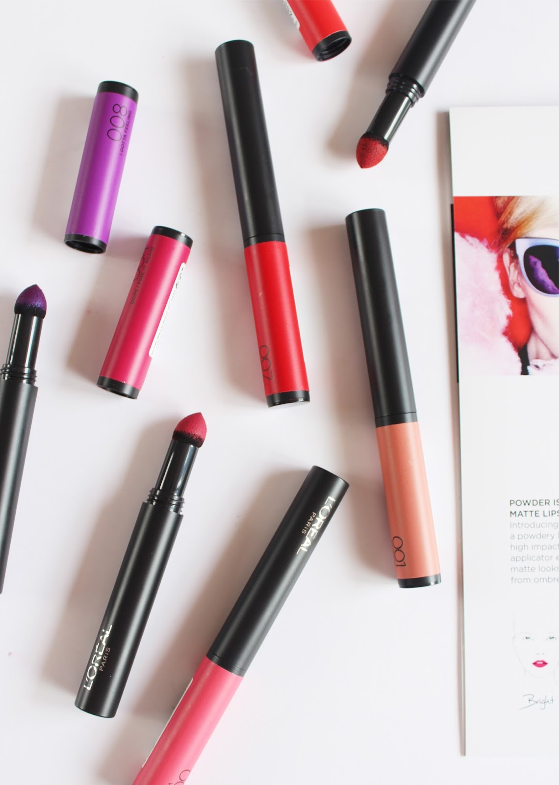 L'OREAL PARIS | Matte FX by Infallible Lip Colours - Review + Swatches (All Shades) - CassandraMyee