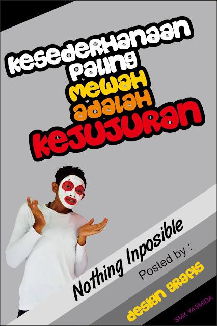 Contoh Design Poster Pesan Moral untuk Sederhana Sekolah SMK Yasmida