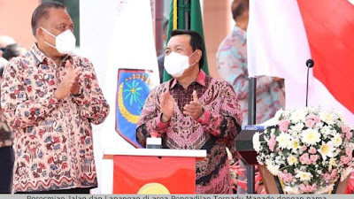 Gubernur Olly Dampingi Ketua Mahkamah Agung, Resmikan Jalan dan Lapangan di Pengadilan Terpadu Manado