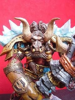 action figure collezione sciamano tauren world of warcraft statuetta minotauro modellino modellini videogames orme magiche