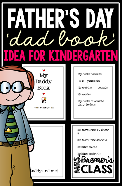 Father's Day 'Dad Book' Idea for Kindergarten