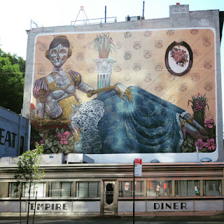 Street Art above the Empire Diner in New York City