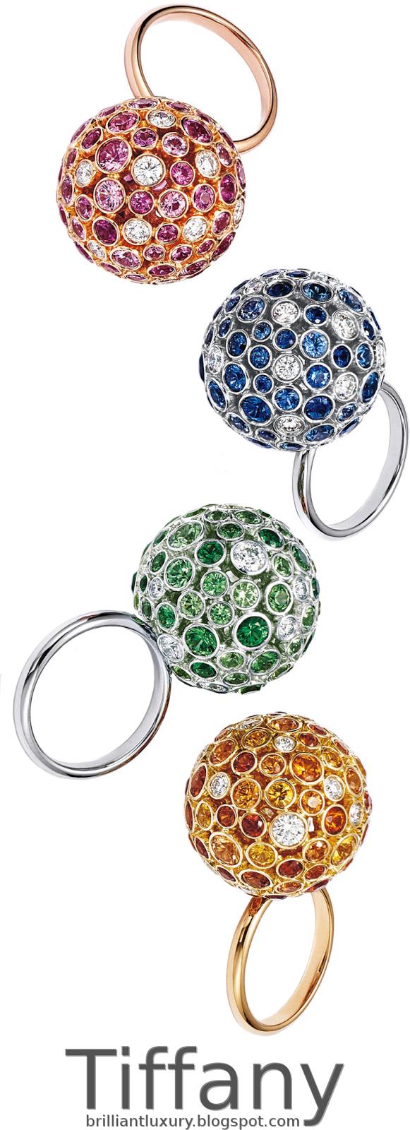 Brilliant Luxury ♦ Tiffany prism orb rings