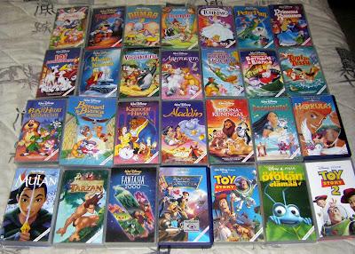 Sinin leffablogi: Disney VHS-kokoelma