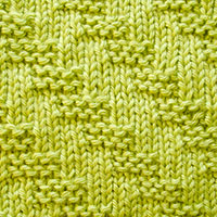 Diagonal Garter Stitch Pattern. Knit and Purl stitches only.