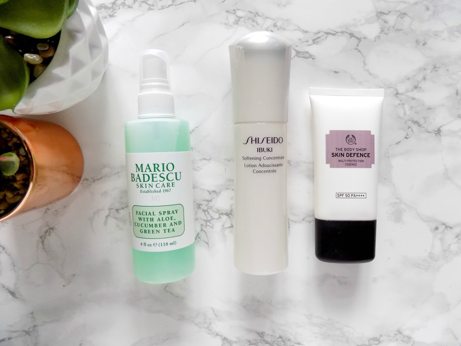 skincare haul mario badescu shiseido body shop