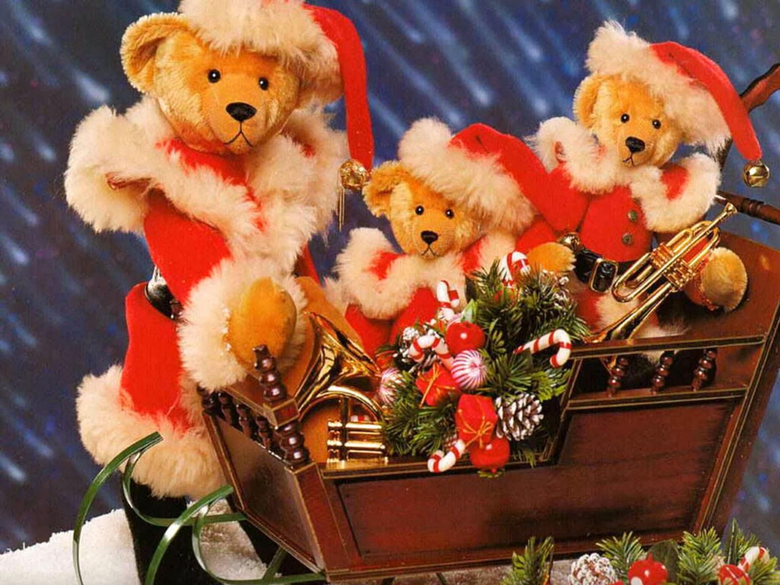 Wallpaper download karna hai - Teddy Bear Christmas Wallpaper
