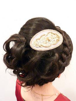 パッチン留めの髪飾り